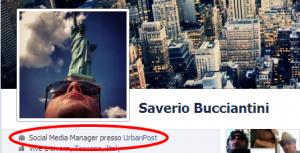 urban post tag su profilo personale