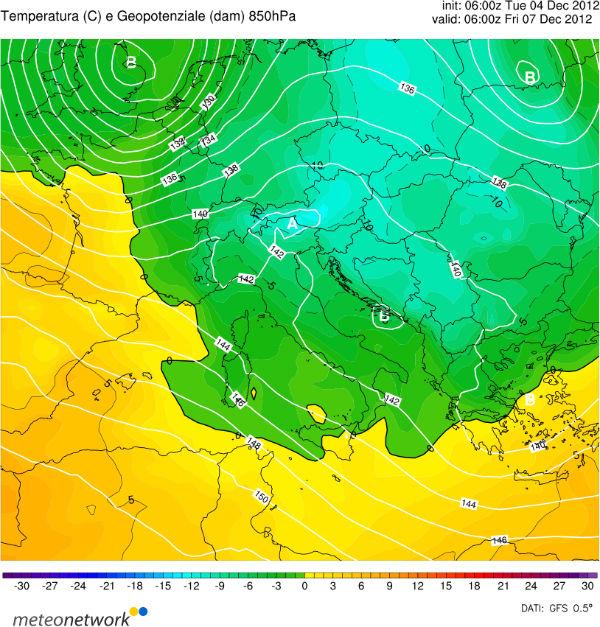 Temperature Prossimi Giorni in Italia