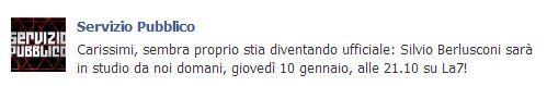 servizio pubblico facebook