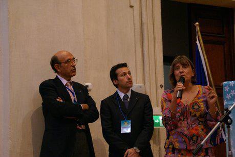 Anna Siccardi durante un'evento