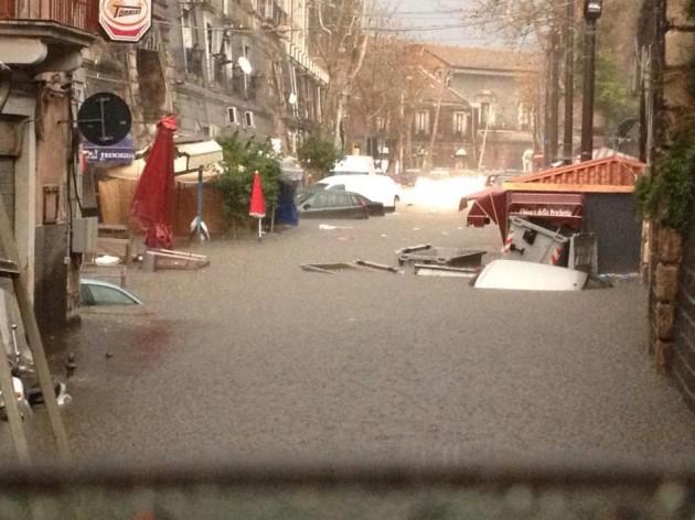 Alluvione Catania Zona Pescheria