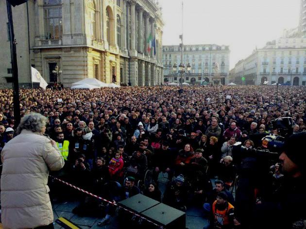 Beppe Grillo a Torino