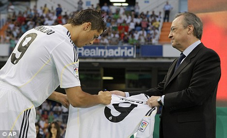 Ronaldo e Florentino Perez