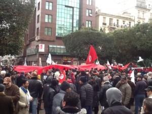 manifestazione tunisi