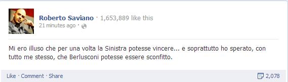 roberto saviano su facebook