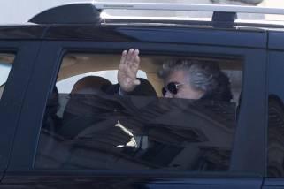 Beppe Grillo arriva al Quirinale